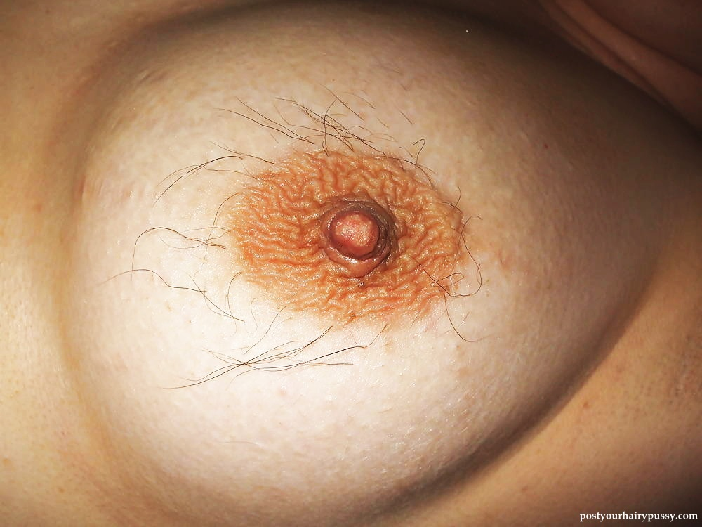 Woman with hairy nipples